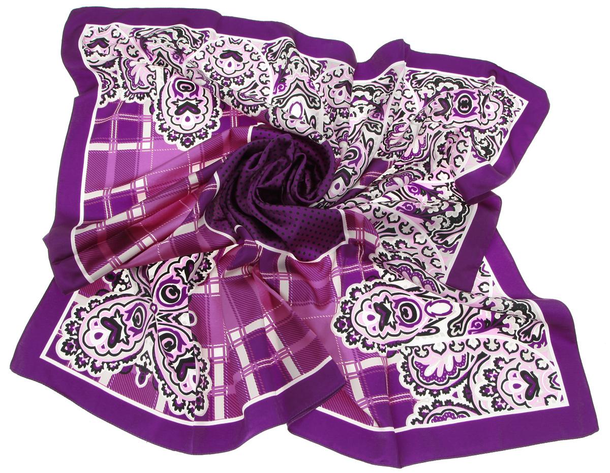 Платок женский. 0015print vio0015print vioСтильный женский платок Laura Milano станет великолепным завершением любого наряда. Платок изготовлен из высококачественного материала и оформлен оригинальным принтом с изображением цветочного орнамента, клетки и мелкого гороха. Классическая квадратная форма позволяет носить платок на шее, украшать им прическу или декорировать сумочку. Мягкий и шелковистый платок поможет вам создать изысканный женственный образ, а также согреет в непогоду. Такой платок превосходно дополнит любой наряд и подчеркнет ваш неповторимый вкус и элегантность.