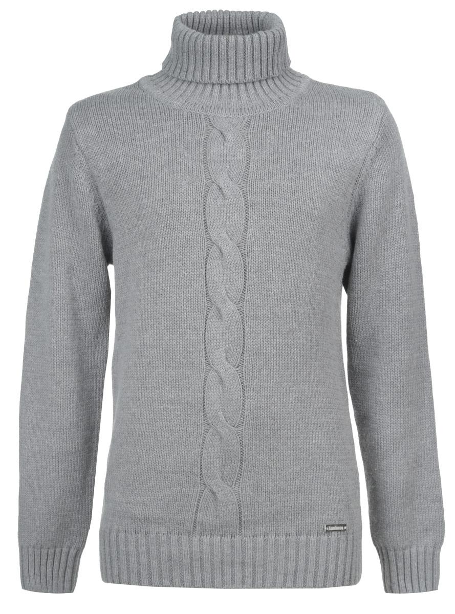 Свитер для мальчика. 186714186714Теплый свитер для мальчика Luminoso идеально подойдет вашему ребенку в прохладные дни. Изготовленный из хлопковой пряжи с добавлением акрила, он необычайно мягкий и приятный на ощупь, не сковывает движения ребенка и хорошо сохраняет тепло, обеспечивая наибольший комфорт. Уютный вязаный свитер с длинными рукавами и высоким воротником-гольф оформлен спереди фактурной вязкой косичка. Манжеты рукавов, нижняя часть изделия и горловина связаны крупной резинкой. Низ изделия оформлен небольшим декоративным элементом в виде металлической пластины с названием бренда. Такой свитер послужит отличным дополнением к гардеробу вашего ребенка. В нем вашему маленькому мужчине будет уютно и тепло, и он всегда будет в центре внимания!