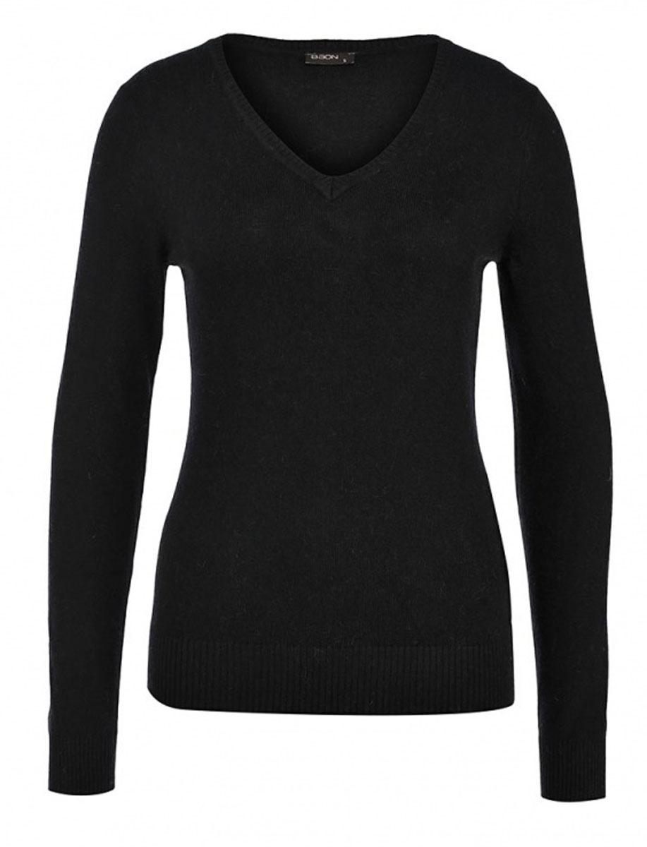 Пуловер женский. B135707B135707Элегантный женский пуловер Baon, выполнен из трикотажа с добавлением ангоры, благодаря чему имеет нежную поверхность и гарантирует комфортный уровень поддержания тепла. Модель с V-образным вырезом и длинными рукавами. Низ и манжеты изделия выполнены мелкой резинкой. Стильный и универсальный пуловер - отличный выбор для повседневного ношения.