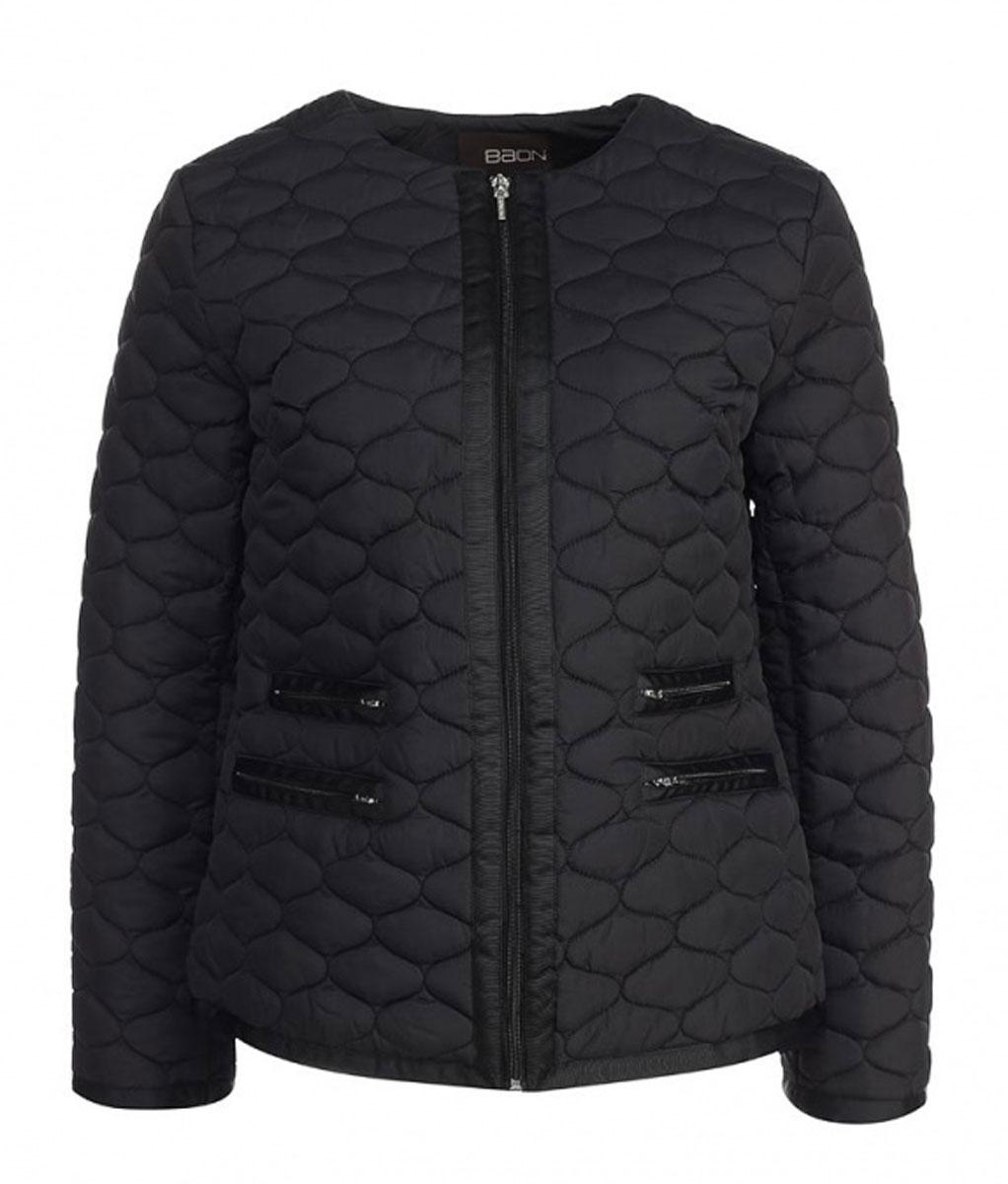 КурткаB035547Удобная женская куртка Baon согреет вас в прохладную погоду. Модель с длинными рукавами и круглым вырезом горловины застегивается на застежку-молнию и имеет наполнитель из синтепона. Куртка дополнена четырьмя втачными карманами на молниях спереди. Изделие оформлено стеганым узором. Эта модная и в то же время комфортная куртка - отличный вариант для прогулок и занятия спортом, она подчеркнет ваш изысканный вкус и поможет создать неповторимый образ.
