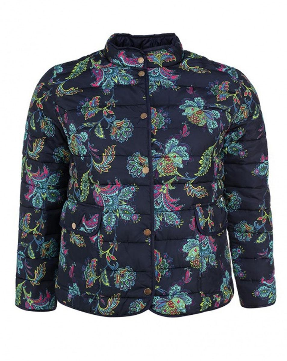 Куртка женская. B035605B035605Стильная женская куртка Baon, выполненная из 100%-го полиэстера, отлично подойдет для прохладной погоды. Модель приталенного силуэта с воротником-стойкой и длинными рукавами застегивается на металлические кнопки по всей длине. Спереди модель дополнена двумя нашивными карманами с клапанами на кнопках. Изделие декорировано ярким цветочным принтом. Эта модная куртка послужит отличным дополнением к вашему гардеробу.
