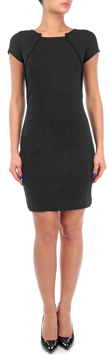 Платье. TSU0469CATSU0469CAОчаровательное платье Troll приталенного силуэта, выполненное мягкого плотного трикотажа, подойдет не только для повседневной носки, но и с легкостью поможет создать романтический образ. Модель с круглым вырезом горловины и короткими рукавами на спинке застегивается на молнию. Это стильное платье подарит вам комфорт и станет отличным дополнением к вашему гардеробу.
