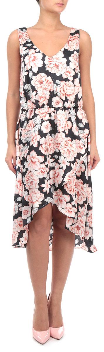 ПлатьеSSU1401GFНевероятно женственное платье Top Secret с воздушной подкладкой создаст утонченный образ. Модель с V-образным вырезом горловины, на широких бретелях, на талии дополнено аккуратной резинкой. Низ изделия оформлен декоративным запахом. Потрясающий цветочный принт. Эффектное платье станет замечательным дополнением к вашему гардеробу.