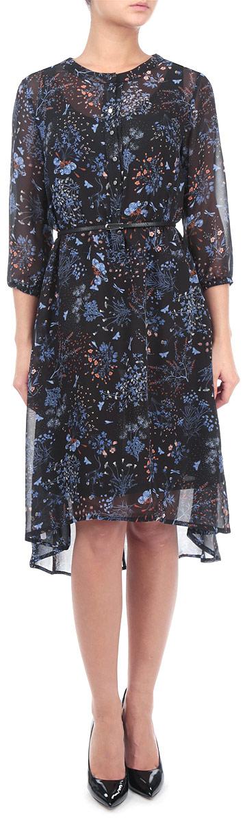 Платье. SSU1426GRSSU1426GRНевероятно женственное легкое платье Top Secret выполнено из летящего материала с воздушной подкладкой. Такое платье создаст утонченный образ и подчеркнет ваш изысканный вкус. Модель приталенного кроя с круглым вырезом горловины и рукавами 3/4. Талия подчеркнута тонким ремешком. Застёгивается изделие на пуговицы. Рукава присобраны эластичной резинкой. Пришивная юбка имеет актуальное удлинение сзади. Потрясающий цветочный принт придаст романтичности и нежности в образ. Отличный вариант на каждый день и особый случай.