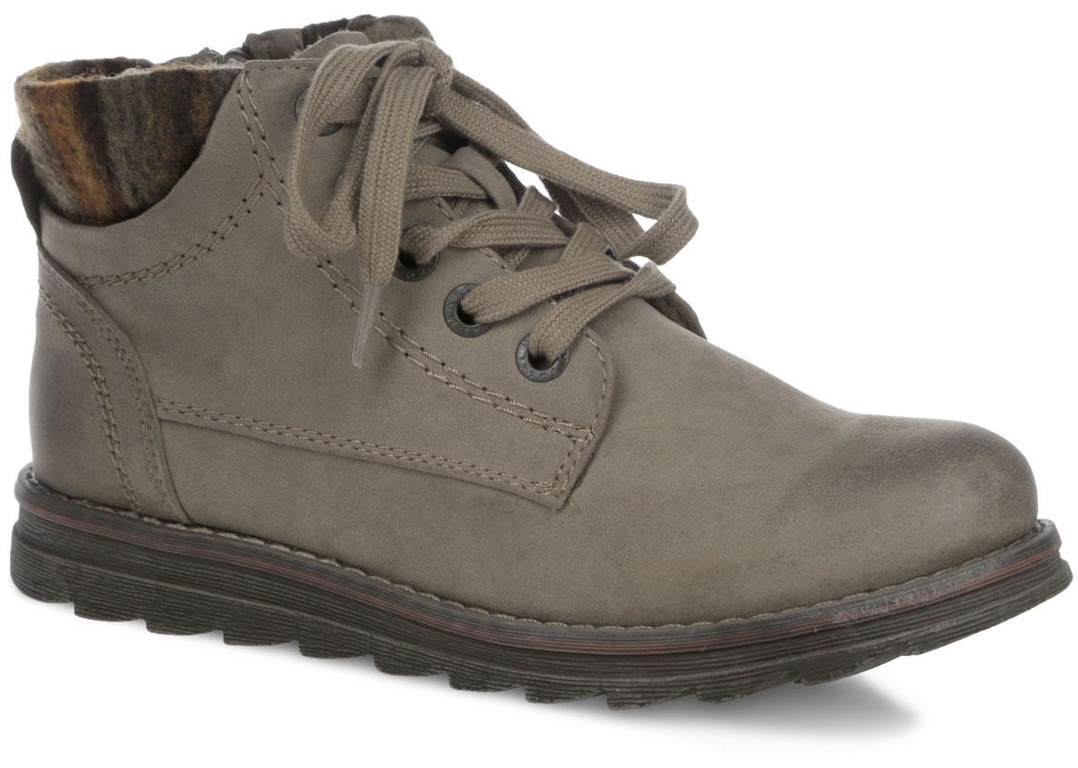 Ботинки женские. 2-2-25208-252-2-25208-25-341Стильные женские ботинки от Marco Tozzi заинтересуют вас своим дизайном с первого взгляда. Модель выполнена из высококачественного текстиля и декорирована по верху фактурными швами. По канту изделие украшено эластичной вставкой из шерсти. Верх голенища декорирован классической шнуровкой, которая позволяет прочно зафиксировать модель на ноге и регулировать объем. Подкладка и стелька - из ворсина, защитят ноги от холода и обеспечат комфорт. Модель застегиваются на застежку-молнию, расположенную на одной из боковых сторон. Подошва из резины с рельефным протектором обеспечивает отличное сцепление на любой поверхности. Модные ботинки покорят вас своим оригинальным дизайном и удобством!