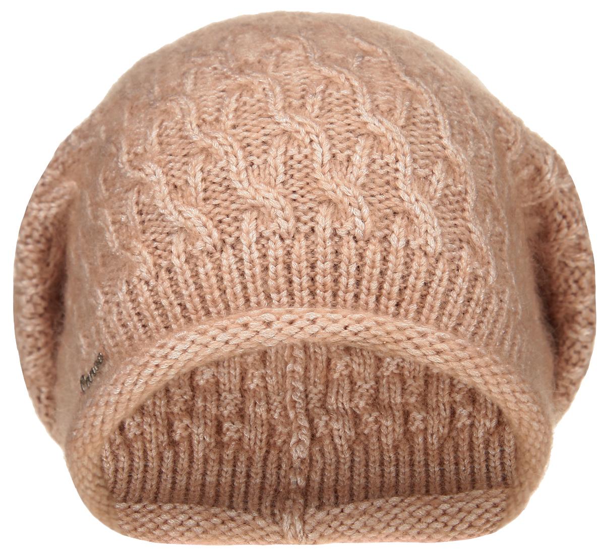 Шапка женская Ilene3445440Удлиненная женская шапка Canoe Ilene с ажурным рисунком отлично дополнит ваш образ в холодную погоду. Сочетание суперкид мохера, вискозы и полиамида максимально сохраняет тепло и обеспечивает удобную посадку, невероятную легкость и мягкость. Визуально пряжа имеет красивое , двухцветное переплетение, создающее ощущение глубины и объема внутри изделия. Шапка украшена небольшим декоративным элементом с изображением надписи Canoe. Привлекательная стильная шапка Canoe Ilene подчеркнет ваш неповторимый стиль и индивидуальность.