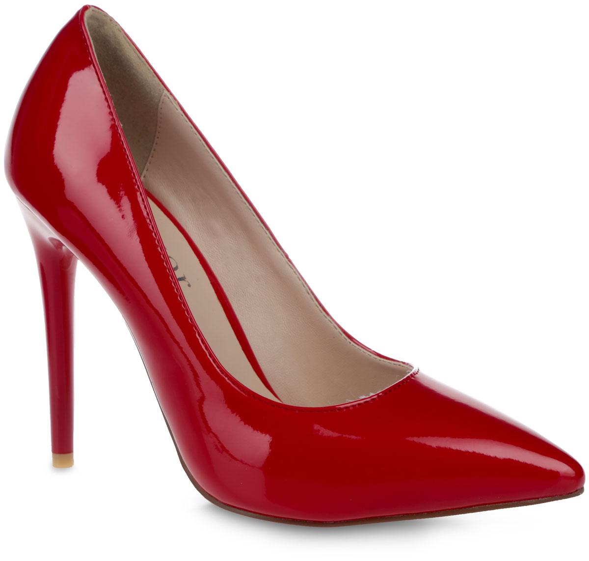 Туфли женские. 5331-E800-25331-E800-25Модные женские туфли от Winzor поразят вас своим дизайном! Модель выполнена из искусственной лаковой кожи и исполнена в лаконичном стиле. Подкладка и стелька - из искусственной кожи, обеспечат максимальный комфорт при ходьбе. Зауженный носок добавит женственности в ваш образ, а ультравысокий каблук-шпилька - шарма. Подошва из полимерного термопластичного материала дополнена рифленым протектором, что обеспечивает отличное сцепление с любой поверхностью. Модные туфли займут достойное место среди вашей коллекции обуви.