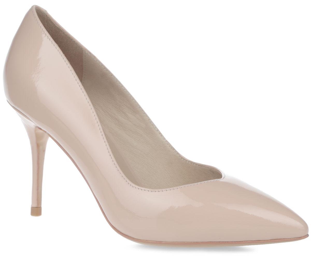 Туфли женские. SY1725-08-1VSY1725-08-1VЭлегантные женские туфли от Winzor займут достойное место в вашем гардеробе. Модель выполнена из натуральной лаковой кожи и исполнена в лаконичном стиле. Верх туфель оформлен V-образным вырезом. Заостренный вытянутый носок смотрится невероятно женственно. Подкладка и стелька - из натуральной кожи, позволят ногам дышать и обеспечат максимальный комфорт при ходьбе. Высокий каблук-шпилька и подошва из полимерного термопластичного материала дополнены рифленым протектором, что обеспечивает отличное сцепление с любой поверхностью. Изысканные туфли добавят шика в модный образ и подчеркнут ваш безупречный вкус.