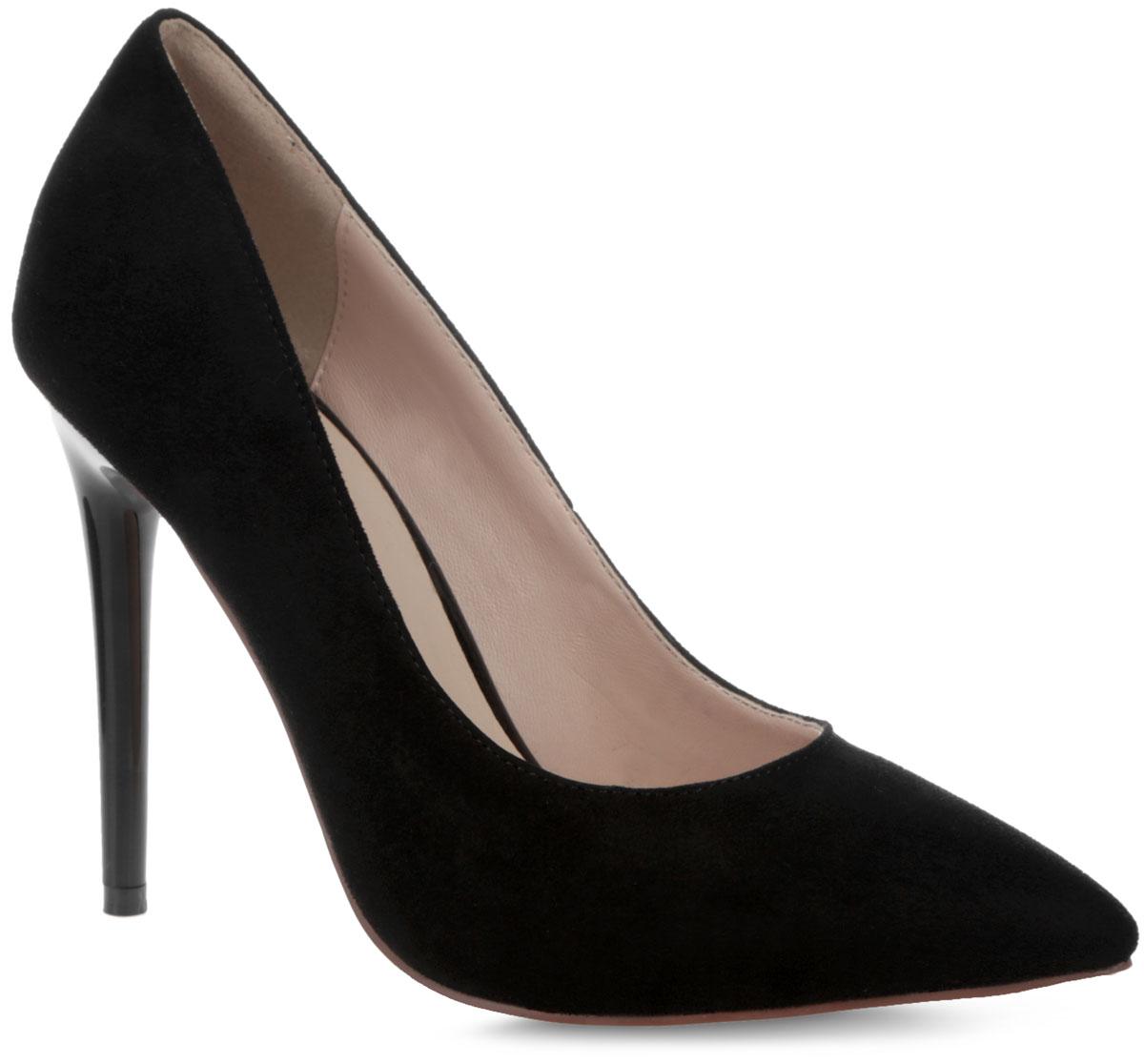 Туфли женские. 5331-E800-265331-E800-26Стильные женские туфли от Winzor покорят вас с первого взгляда. Модель выполнена из искусственной замши и исполнена в лаконичном стиле. Подкладка и стелька - из искусственной кожи, обеспечат максимальный комфорт и уют при ходьбе. Зауженный носок добавит женственности в ваш образ, а ультравысокий каблук-шпилька - шарма. Подошва из полимерного термопластичного материала дополнена рифлением для лучшей сцепки с поверхностью. Модные туфли займут достойное место среди вашей коллекции обуви.