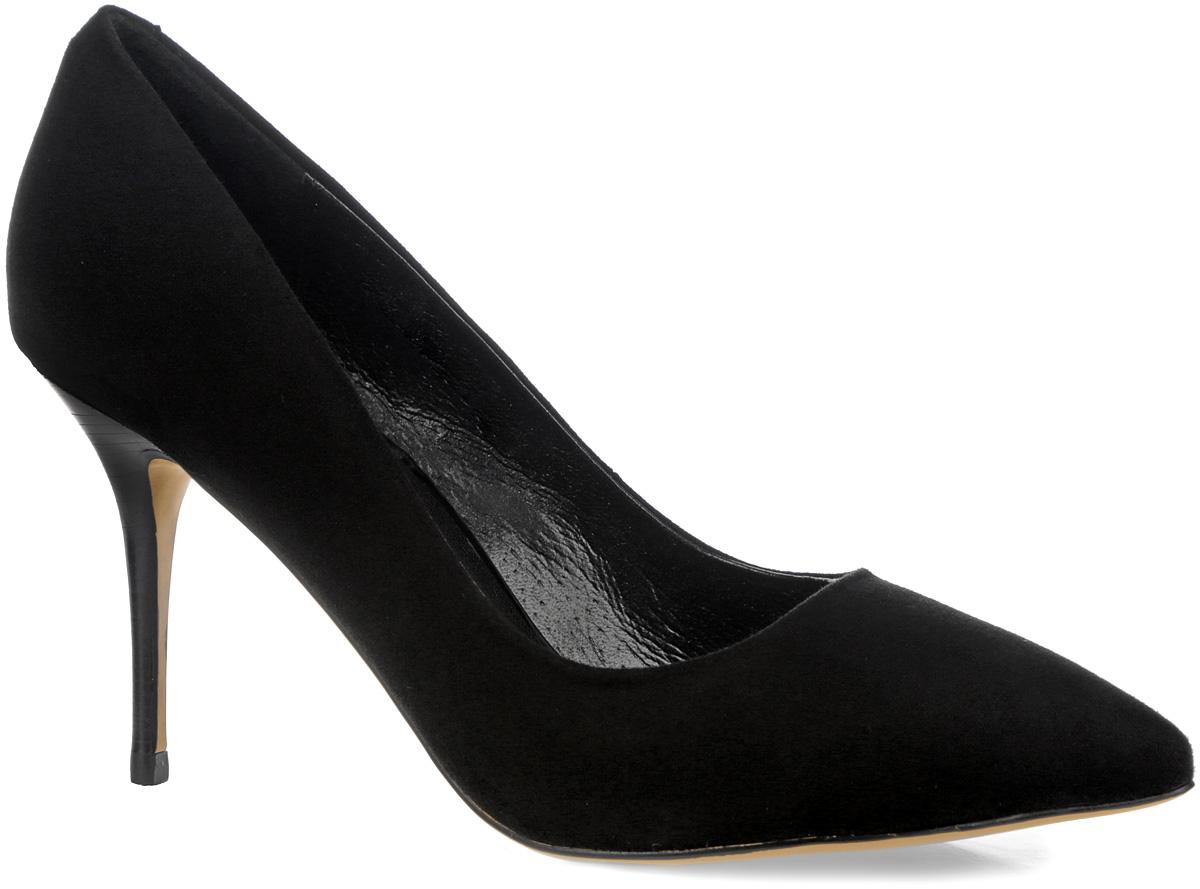 Туфли женские. SY1725-06-1BSY1725-06-1BЭлегантные женские туфли от Winzor займут достойное место в вашем гардеробе. Модель выполнена из натурального велюра и исполнена в лаконичном стиле. Заостренный вытянутый носок смотрится невероятно женственно. Подкладка и стелька - из натуральной кожи, позволят ногам дышать и обеспечат максимальный комфорт при ходьбе. Высокий каблук-шпилька и подошва из полимерного термопластичного материала дополнены рифленым протектором, что обеспечивает отличное сцепление с любой поверхностью. Изысканные туфли добавят шика в модный образ и подчеркнут ваш безупречный вкус.