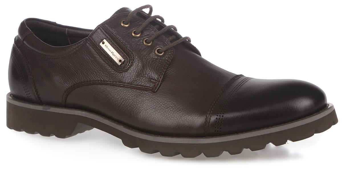 Полуботинки мужские. 101-182-03101-182-03Изысканные туфли Dino Ricci - незаменимая вещь в гардеробе каждого мужчины. Модель выполнена из натуральной высококачественной кожи, декорированой фактурными швами и перфорацией. Классическая шнуровка позволяет прочно зафиксировать обувь на ноге. Стелька и подкладка - из натуральной кожи, позволят ногам дышать и обеспечат максимальный комфорт при ходьбе. Резинки, расположенные на подъеме, гарантируют оптимальную посадку туфель на ноге. Сбоку изделие дополнено стильной фурнитурой. Умеренной высоты каблук и подошва с рифлением обеспечивают отличное сцепление с поверхностью. Элегантные туфли станут прекрасным завершением вашего модного образа.