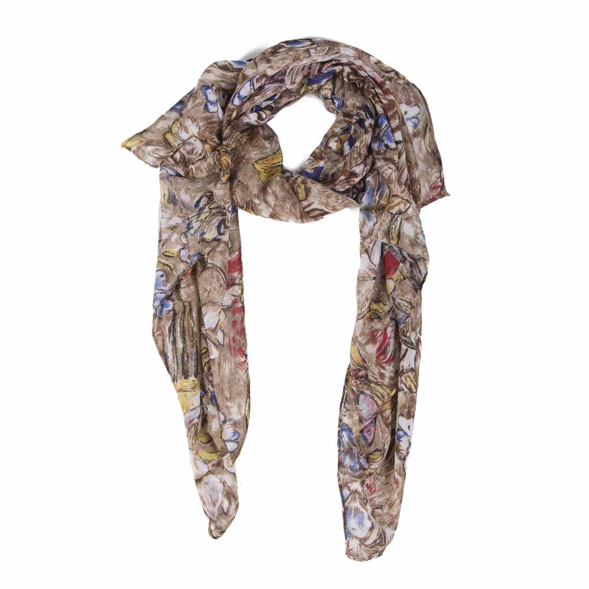 Палантин21/0437Оригинальный палантин с принтом по мотивам произведения искусства Густава Климта Дама с веером. В составе присутствует натуральная шерсть, которая придает тепло и мягкость. Интересно и красиво драпируется различными способами. С этим палантином вы всегда будете выглядеть женственной и привлекательной.
