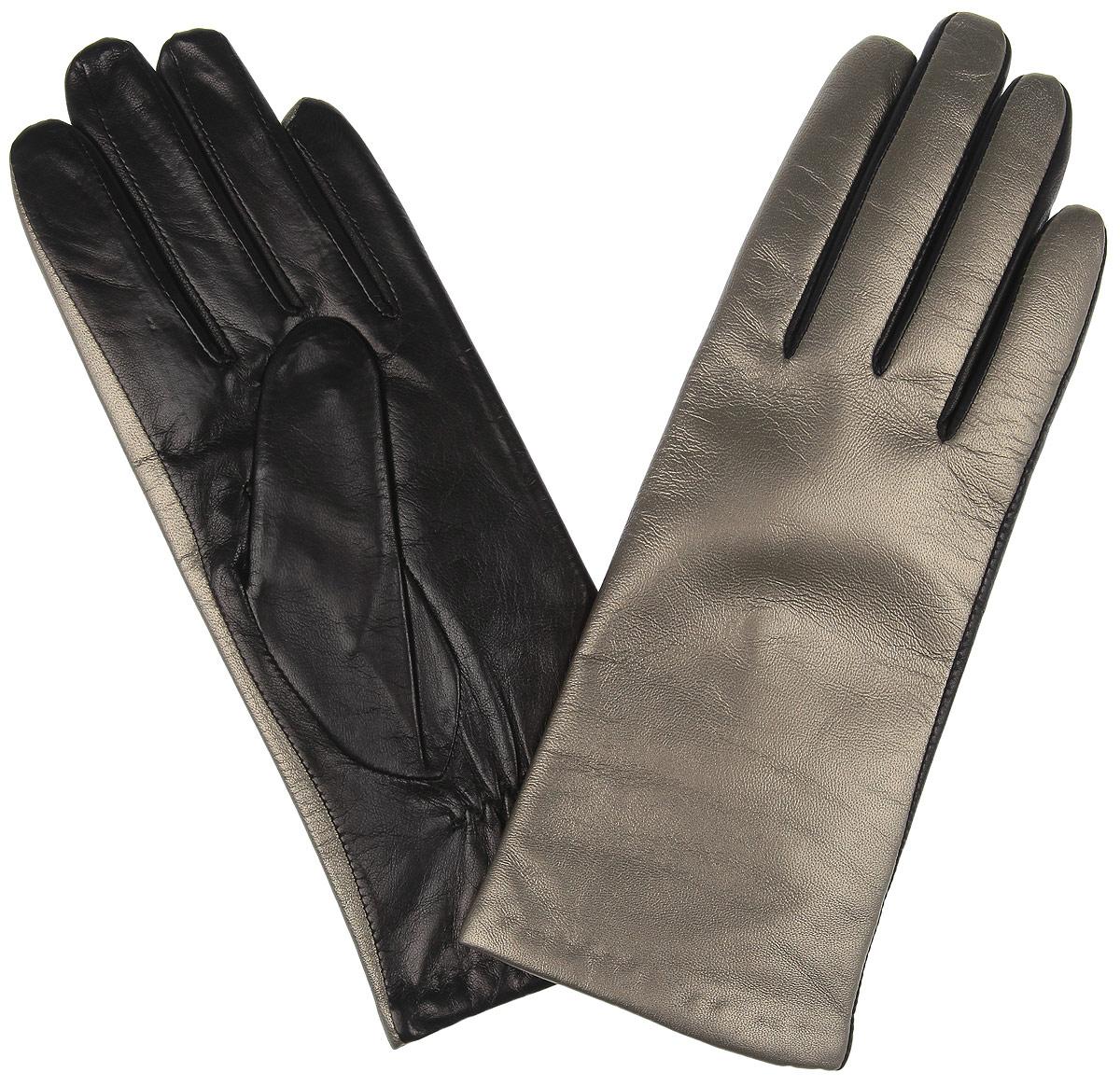 2.68-24 bronzeДвухцветные эксклюзивные женские перчатки Fabretti классического кроя , декорированы металлизированной кожей бронзового цвета. Перчатки выполнены из высококачественной натуральной кожи, а их подкладка - из шерсти с добавлением кашемира. Тыльная сторона дополнена резинкой для оптимальной посадки модели на руке. Перчатки станут завершающим и подчеркивающим элементом вашего стиля и неповторимости.