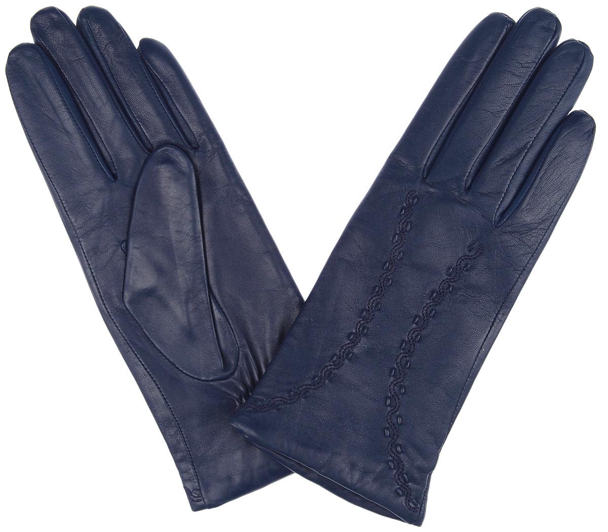 Перчатки2.6-11s blueСтильные женские перчатки Fabretti не только защитят ваши руки от холода, но и станут великолепным украшением. Перчатки выполнены из эфиопский кожи ягненка с подкладкой из шерсти и кашемира. Модель декорирована оригинальной прострочкой. В настоящее время перчатки являются неотъемлемой частью гардероба, вместе с этим аксессуаром вы обретаете женственность и элегантность. Перчатки станут завершающим и подчеркивающим элементом вашего стиля и неповторимости.