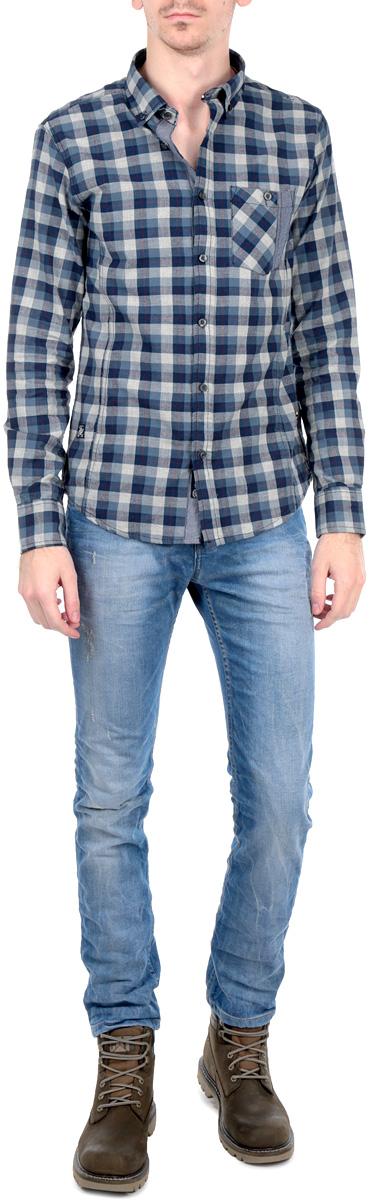 Рубашка10153719 572Стильная рубашка Broadway с длинными рукавами, отложным воротником и застежкой на пуговицы приятная на ощупь, не сковывает движения, обеспечивая наибольший комфорт. Рубашка оформлена ярким клетчатым принтом и накладным карманом. Рубашка, выполненная из хлопка, обладает высокой воздухопроницаемостью и гигроскопичностью, позволяет коже дышать, тем самым обеспечивая наибольший комфорт при носке даже самым жарким летом. Эта модная и удобная рубашка послужит замечательным дополнением к вашему гардеробу.