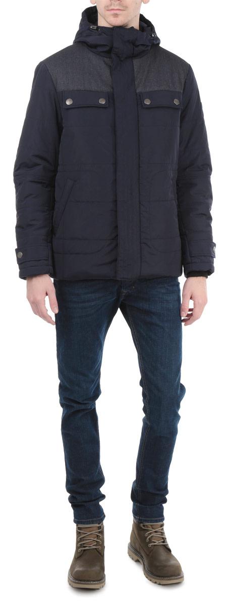 Куртка мужская. AL-2657AL-2657Стильная мужская куртка Grishko с текстильными вставками, выполненная из высококачественных материалов, обеспечит максимальный комфорт при различных погодных условиях. Изделие с несъемным капюшоном и длинными рукавами застегивается на пластиковую застежку-молнию и дополнительно ветрозащитной планкой на металлические кнопки. Спереди модель дополнена четырьмя прорезными карманами на кнопках. На внутренней стороне модель дополнена одним втачным и одним нашивным карманом на кнопке. Горловина и рукава изделия дополнены текстильными резинками. Капюшон дополнен внутренней эластичной резинкой на стопперах. На манжетах имеются хлястика на кнопках. Эта стильная куртка послужит отличным дополнением к вашему гардеробу!
