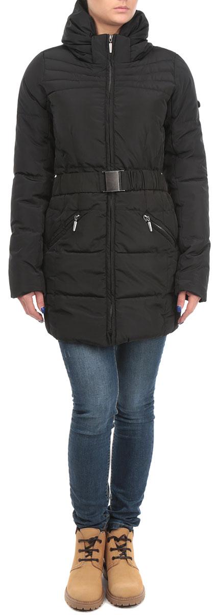 Куртка женская. 1015019810150198 999Удобная женская куртка Broadway согреет вас в прохладную погоду. Модель с длинными рукавами и воротником-хомутом застегивается на застежку-молнию. Наполнитель из 100% полиэфира обеспечит надежное сохранение тепла и защитит от ветра. Куртка дополнена двумя втачными карманами на молниях спереди. В комплект входит съемный пояс с металлической пряжкой. Эта модная и в то же время комфортная куртка - отличный вариант для прогулок и занятия спортом, она подчеркнет ваш изысканный вкус и поможет создать неповторимый образ.