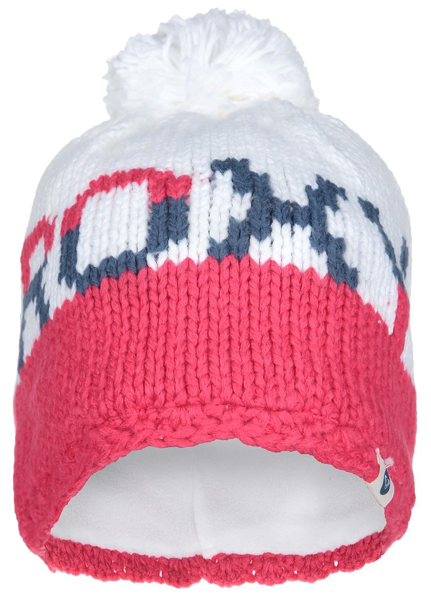 Шапка женская FjordERJHA03006-BRD0Стильная женская шапка Roxy Fjord дополнит ваш наряд и не позволит вам замерзнуть в холодное время года. Шапка-бини мелкой вязки выполнена из высококачественной акриловой пряжи, что позволяет ей великолепно сохранять тепло и обеспечивает высокую эластичность и удобство посадки. Подкладка выполнена из мягкого и приятного на ощупь флиса. Шапка оформлена пушистым помпоном и контрастным узором с логотипом бренда Roxy. Такая шапка станет модным и стильным дополнением вашего зимнего гардероба, великолепно подойдет для активного отдыха и занятия спортом. Она согреет вас и позволит подчеркнуть свою индивидуальность!