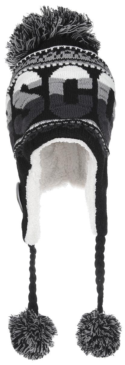 Шапка-ушанка Moscow. KMOS004KMOS004-AСтильная вязаная шапка-ушанка Robin Ruth Moscow дополнит ваш наряд и не позволит вам замерзнуть в холодное время года. Шапка-ушанка выполнена из высококачественной акриловой пряжи, что позволяет ей великолепно сохранять тепло и обеспечивает высокую эластичность и удобство посадки. Модель с завязками очень практична - благодаря широким и длинным ушкам тепло и комфорт вам обеспечены даже в самую ветреную погоду. Завязки украшены небольшими помпонами. Шапка украшена большим пушистым помпоном сверху и дополнена надписью Moscow, а также значком с логотипом производителя. Такая шапка станет модным и стильным дополнением вашего зимнего гардероба, великолепно подойдет для активного отдыха и занятия спортом. Она согреет вас и позволит подчеркнуть свою индивидуальность!