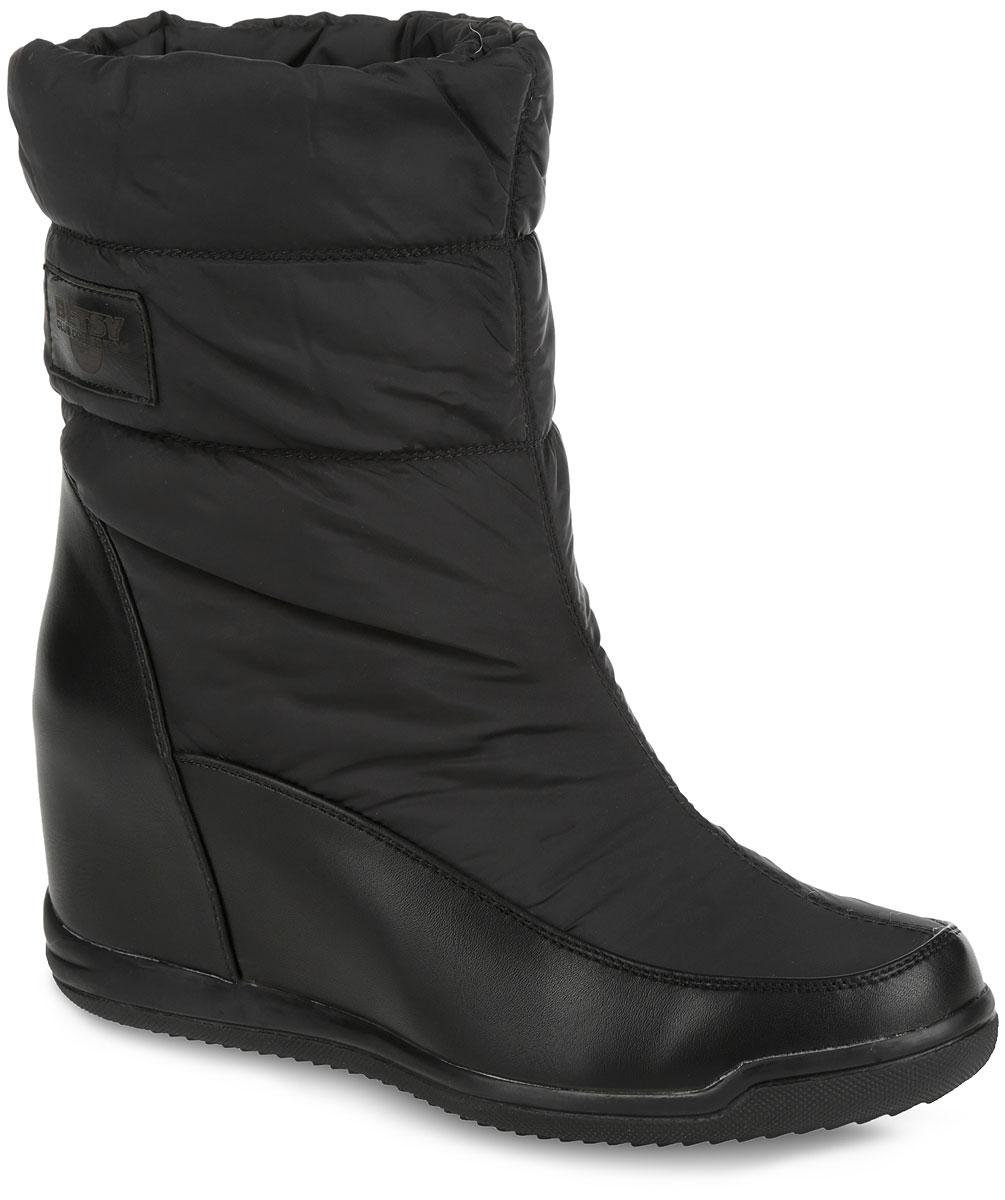 Полусапоги женские. 958013/01-02958013/01-02Модные полусапоги от Betsy займут достойное место в вашем гардеробе. Модель выполнена из текстиля со вставками из искусственной кожи. Обувь оформлена сбоку фирменной нашивкой. Полусапоги застегиваются на застежку-молнию, расположенную сбоку. Мягкая подкладка и стелька невероятно комфортны при ходьбе. Умеренной высоты скрытая танкетка устойчива. Подошва с рифлением защищает изделие от скольжения. Стильные полусапожки покорят вас своим удобством!
