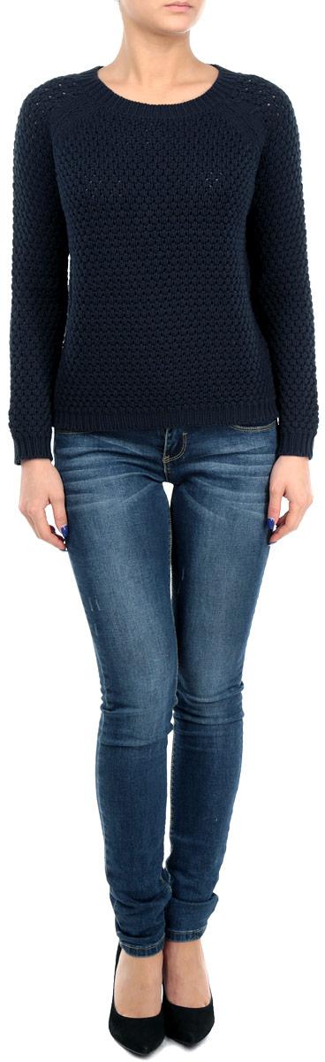 Пуловер женский. 6010198160101981 001Стильный женский пуловер Broadway, изготовленный из высококачественной пряжи из хлопка и акрила, не сковывает движения, обеспечивая наибольший комфорт. Модель с круглым вырезом горловины и длинными рукавами-реглан великолепно сидит, а однотонная расцветка прекрасно сочетается с любыми нарядами. Низ, манжеты и вырез горловины пуловера связаны резинкой. Пуловер крупной вязки поможет вам создать стильный современный образ в стиле Casual. Этот теплый и комфортный пуловер станет отличным дополнением к вашему гардеробу. В нем вы всегда будете чувствовать себя уютно в прохладное время года.