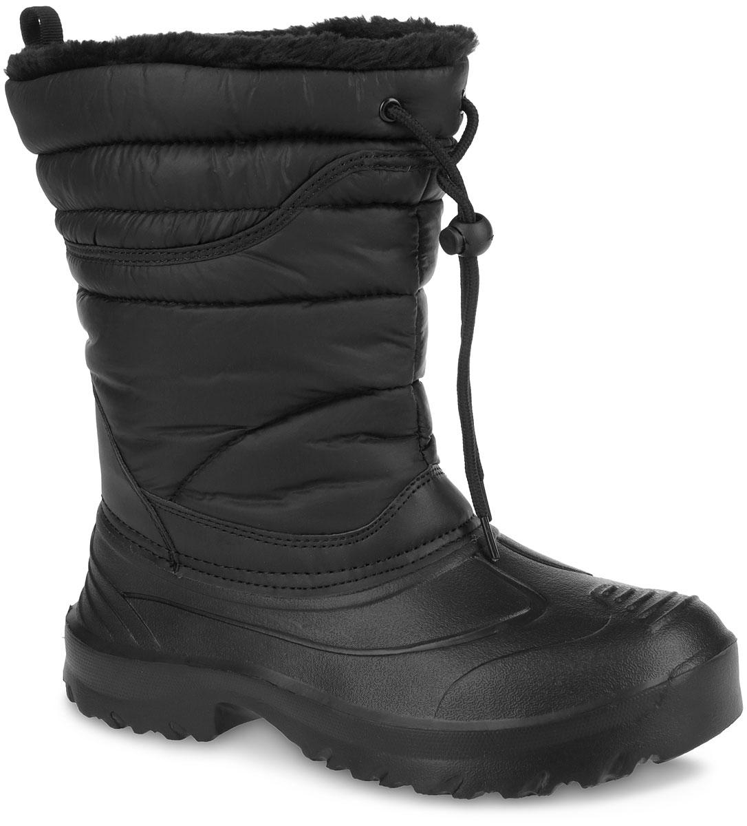 Сапоги мужские. 259-06259-06Зимние сапоги Nobbaro займут достойное место в коллекции вашей обуви. Модель выполнена в нижней части из высококачественной резины, а голенище - из водоотталкивающего текстиля, обладающего высокими износостойкими свойствами и дополненного вставками из искусственной кожи. Верх изделия дополнен шнурком, который надежно фиксирует модель на ноге и регулирует объем. Подкладка из искусственного меха и текстиля согреет ваши ноги в холод. Стелька из текстиля обеспечит комфорт и уют. Уплотненная вставка в области пятки и на мысе защитит детскую стопу от ударов при ходьбе. Подошва с протектором гарантирует идеальное сцепление на любой поверхности. Стильные сапоги займут достойное место в вашем гардеробе.