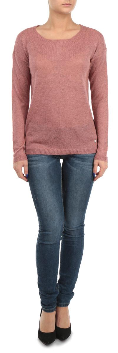 Пуловер женский. 1015314010153140 396Стильный женский пуловер Broadway, изготовленный из высококачественной пряжи из акрила с добавлением полиэстера, не сковывает движения, обеспечивая наибольший комфорт. Модель с круглым вырезом горловины и длинными рукавами великолепно сидит, а однотонная расцветка прекрасно сочетается с любыми нарядами. Низ и манжеты пуловера связаны резинкой. Пуловер мелкой вязки поможет вам создать стильный современный образ в стиле Casual. Этот тонкий и комфортный пуловер станет отличным дополнением к вашему гардеробу. В нем вы всегда будете чувствовать себя уютно в прохладное время года.