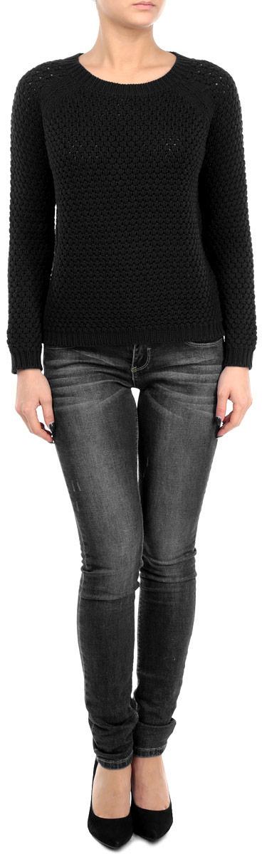 Пуловер60101981 001Стильный женский пуловер Broadway, изготовленный из высококачественной пряжи из хлопка и акрила, не сковывает движения, обеспечивая наибольший комфорт. Модель с круглым вырезом горловины и длинными рукавами-реглан великолепно сидит, а однотонная расцветка прекрасно сочетается с любыми нарядами. Низ, манжеты и вырез горловины пуловера связаны резинкой. Пуловер крупной вязки поможет вам создать стильный современный образ в стиле Casual. Этот теплый и комфортный пуловер станет отличным дополнением к вашему гардеробу. В нем вы всегда будете чувствовать себя уютно в прохладное время года.