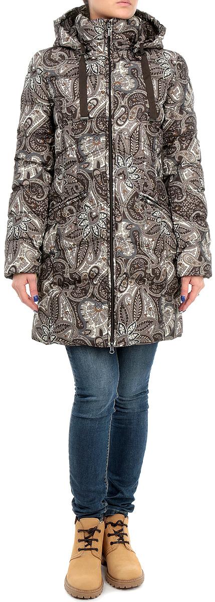 ПуховикB005523-DARK CHOCOLATE PRINTEDСтильный женский пуховик Baon, выполненный из высококачественного плотного материала, рассчитан на холодную погоду. Модель с воротником-стойкой и длинными рукавами застегивается на молнию по всей длине. Съемный капюшон изделия дополнен текстильным шнурком на стопперах. Манжеты изделия дополнены эластичными резинками, препятствующими проникновению холодного воздуха. Модель дополнена двумя втачными карманами на молнии. В этом пуховике вам будет комфортно. Модная фактура ткани, отличное качество, великолепный дизайн.