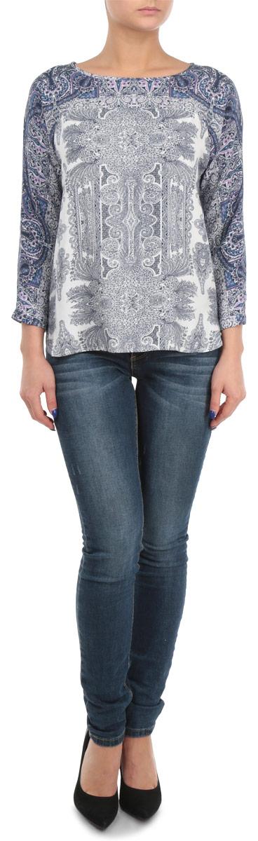 Блузка женская. B175503B175503Стильная женская блуза Baon, выполненная из 100% вискозы, подчеркнет ваш уникальный стиль и поможет создать оригинальный женственный образ. Блузка свободного кроя с длинными рукавами-кимоно и круглым вырезом горловины оформлена оригинальным контрастным цветочным узором. Блузка застегивается на пуговицу на спинке, манжеты рукавов также дополнены пуговицами. Легкая блуза идеально подойдет для жарких летних дней. Такая блузка будет дарить вам комфорт в течение всего дня и послужит замечательным дополнением к вашему гардеробу.