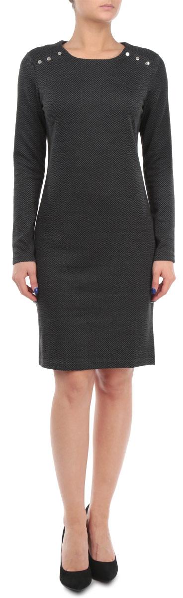 Платье. W15-11028W15-11028Элегантное платье Finn Flare выполнено из эластичного полиэстера. Такое платье обеспечит вам комфорт и удобство при носке. Модель с длинными рукавами и круглым вырезом горловины выгодно подчеркнет все достоинства вашей фигуры благодаря слегка приталенному силуэту. Изделие застегивается на кнопки на плечах. Платье оформлено оригинальным геометрическим принтом. Изысканное платье-миди создаст обворожительный и неповторимый образ. Это модное и удобное платье станет превосходным дополнением к вашему гардеробу, оно подарит вам удобство и поможет вам подчеркнуть свой вкус и неповторимый стиль.