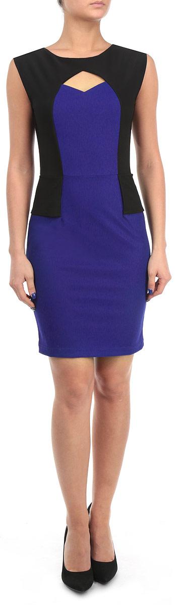 ПлатьеFA13 KIT06 BLUEСтильное платье Broadway сделает вас неотразимой в будни и в праздники. Платье оригинального исполнения оформлено в контрастных цветах. В зоне груди расположен ромбообразный вырез. На спинке вдоль лопаток расположена скрытая молния. Любая женщина в этом платье будет чувствовать себя неповторимой.