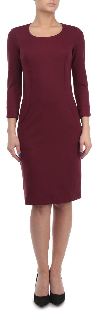 Платье. W15-11025W15-11025Элегантное платье Finn Flare выполнено из полупрозрачного струящегося материала и имеет плотную непрозрачную подкладку. Такое платье обеспечит вам комфорт и удобство при носке. Модель с рукавами 3/4 и круглым вырезом горловины выгодно подчеркнет все достоинства вашей фигуры. Сзади платье украшено имитацией застежки на кнопках. Платье дополнено двумя открытыми втачными карманами. Изысканное однотонное платье-миди создаст обворожительный и неповторимый образ. Это модное и удобное платье станет превосходным дополнением к вашему гардеробу, оно подарит вам удобство и поможет вам подчеркнуть свой вкус и неповторимый стиль.