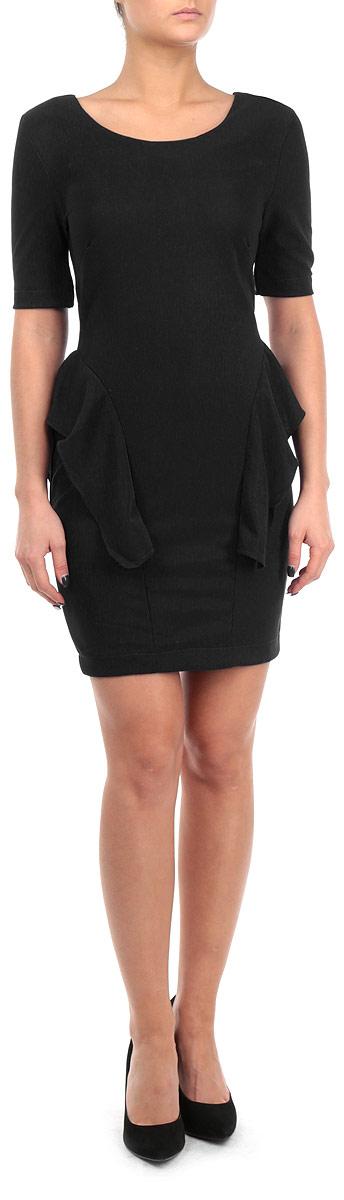 ПлатьеFA13 KIT04 BLUEСтильное платье Broadway, выполненное из высококачественного материала, покорит своим превосходным дизайном. Модель приталенного силуэта, с рукавом 1/2 и с круглым вырезом горловины. Изделие застегивается на застежку-молнии на спинке. По бокам платье оформлено оборкой. Это модное и в тоже время комфортное платье послужит отличным дополнением к вашему гардеробу. В нем вы всегда будете чувствовать себя уютно и комфортно.