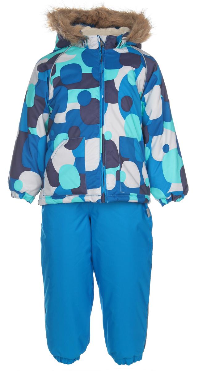 Комплект детский Avery: куртка, полукомбинезон. 4178CW014178CW01_O20Теплый детский комплект Huppa Avery, состоящий из куртки и полукомбинезона, идеально подойдет вашему ребенку в холодное время года. Комплект изготовлен из водоотталкивающей и ветрозащитной ткани с утеплителем из HuppaTherm - 100% полиэстера. HuppaTherm - высокотехнологичный легкий синтетический утеплитель нового поколения. Уникальная структура микроволокон не позволяет проникнуть холодному воздуху, в то же время, удерживая теплый воздух между волокнами, обеспечивая высокую теплоизоляцию изделия. Полиуретан с микропорами препятствует прохождению воды и ветра сквозь ткань внутрь изделия, в то же время, позволяя испаряться выделяемой телом влаге. Для максимальной влагонепроницаемости изделия основные швы проклеены водостойкой лентой. Сплетения волокон в тканях выполнены по специальной технологии, которая придает ткани прочность и предохраняет от истирания. В качестве подкладки используется натуральный хлопок. Куртка с капюшоном и небольшим воротником-стойкой застегивается на...