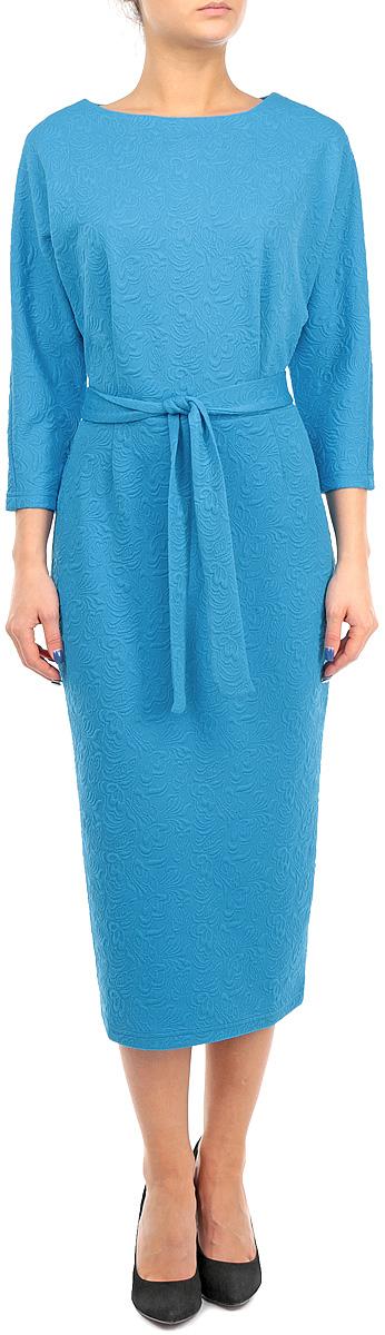 Платье. 660660Элегантное платье Lautus изготовлено из высококачественного эластичного полиэстера с добавлением вискозы. Такое платье приятно к телу, обеспечит вам комфорт и удобство при носке. Модель с круглым вырезом горловины и рукавами-летучая мышь 3/4 выгодно подчеркнет все достоинства вашей фигуры благодаря приталенному силуэту. В комплект входит пояс в тон платью. Платье оформлено объемным цветочным узором. Изысканное платье-макси с пришивной юбкой создаст обворожительный и неповторимый образ. Это модное и удобное платье станет превосходным дополнением к вашему гардеробу, оно подарит вам удобство и поможет вам подчеркнуть свой вкус и неповторимый стиль.
