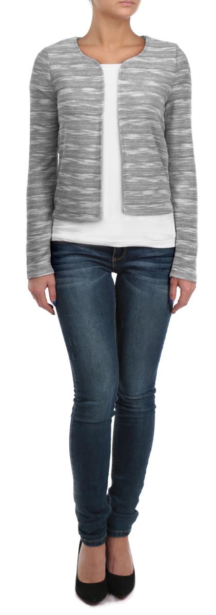 Кардиган10153191 821Стильный теплый женский кардиган Broadway изготовлен из высококачественного материала на основе полиэстера с добавлением хлопка. Модель с длинными рукавами и круглым вырезом горловины поможет вам подчеркнуть свою элегантность. Уютный классический кардиган - идеальный вариант для создания неотразимого образа. Такая модель будет дарить вам комфорт в течение всего дня и послужит замечательным дополнением к вашему гардеробу.