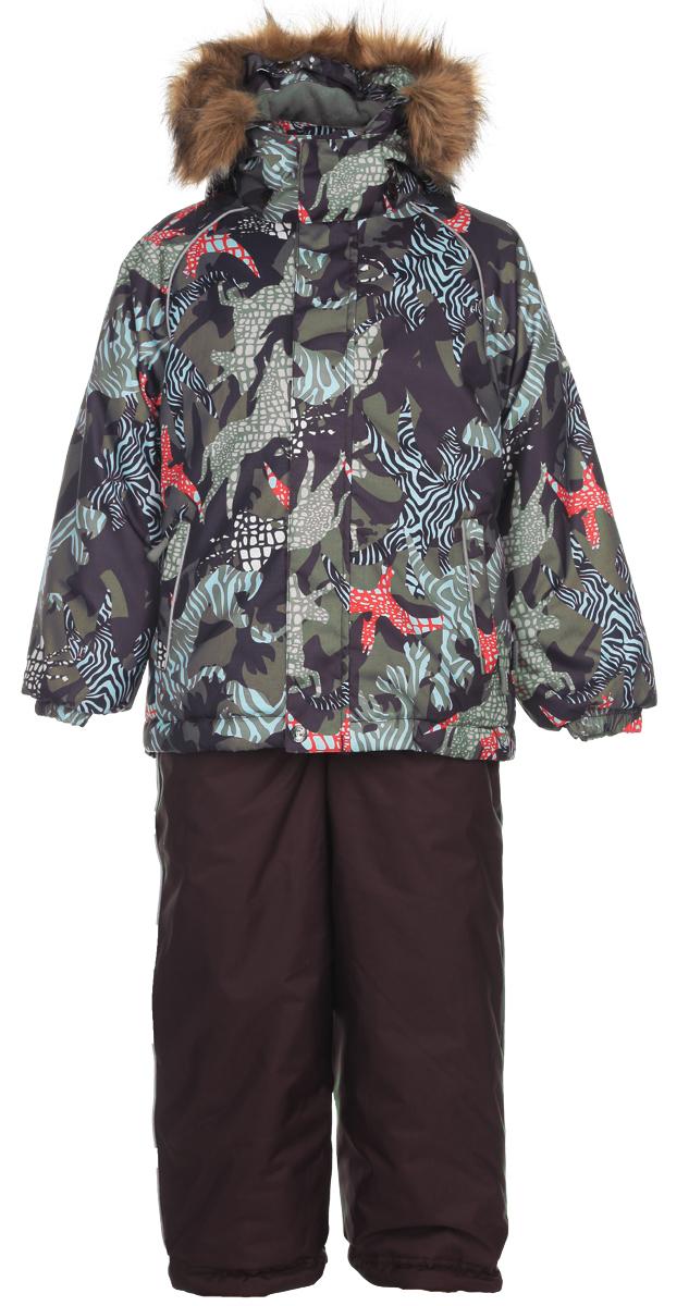 Комплект детский Remi: куртка, полукомбинезон. 4106CW154106CW15_H31Теплый детский комплект Huppa Remi, состоящий из куртки и полукомбинезона, идеально подойдет для ребенка в холодное время года. Комплект изготовлен из водоотталкивающей и ветрозащитной ткани с утеплителем HuppaTerm - высокотехнологичный легкий синтетический утеплитель нового поколения. Уникальная структура микроволокон не позволяет проникнуть внутрь холодному воздуху, в то же время, удерживая теплый между волокнами, обеспечивая высокую теплоизоляцию изделия. Куртка с капюшоном и рукавами-реглан застегивается на пластиковую застежку-молнию и дополнительно имеет внешнюю ветрозащитную планку на кнопках и липучках, а также защиту подбородка в виде текстильного уголочка. Капюшон, декорированный съемной опушкой из искусственного меха, защитит нежные щечки от ветра, он пристегивается к куртке при помощи кнопок и дополнен мягкой флисовой подкладкой. Низ рукавов присборен на эластичные резинки. Мягкая подкладка на капюшоне, воротнике и манжетах придает дополнительный комфорт....