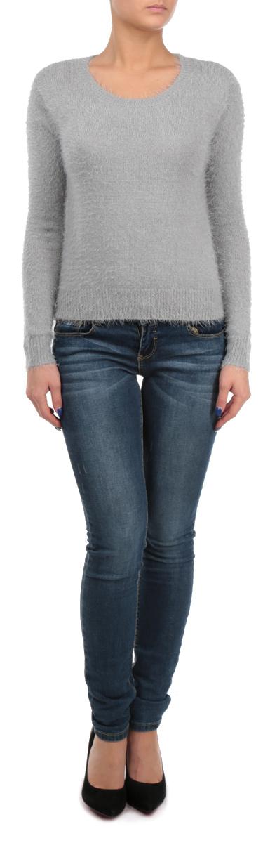 Пуловер женский. SPUACMAGDALSPUACMAGDAL 8E/GRY077Стильный женский пуловер Tally Weijl, изготовленный из пряжи на основе полиамида с добавлением акрила, не сковывает движения, обеспечивая наибольший комфорт. Модель с круглым вырезом горловины и длинными рукавами великолепно сидит. Пушистый пуловер мелкой вязки поможет вам создать стильный современный образ в стиле Casual. Этот удобный и стильный пуловер станет отличным дополнением к вашему гардеробу. В нем вы всегда будете чувствовать себя уютно в прохладное время года.