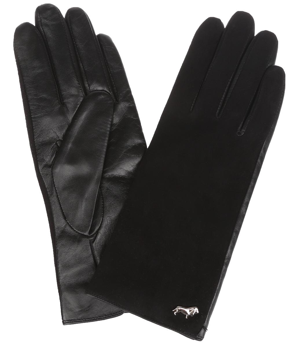 LB-4707Классические женские перчатки Labbra не только защитят ваши руки, но и станут великолепным украшением. Тыльная сторона перчаток выполнена из замши, а на ладошках - из чрезвычайно мягкой и приятной на ощупь натуральной кожи ягненка, а их подкладка - из натуральной шерсти с добавлением акрила. Внешняя сторона оформлена фирменным логотипом в виде собачки. Качественная отделка кожи ягненка делает эту модель не только красивой, но и долговечной. В настоящее время перчатки являются неотъемлемой принадлежностью одежды, вместе с этим аксессуаром вы обретаете женственность и элегантность. Перчатки станут завершающим и подчеркивающим элементом вашего стиля и неповторимости.