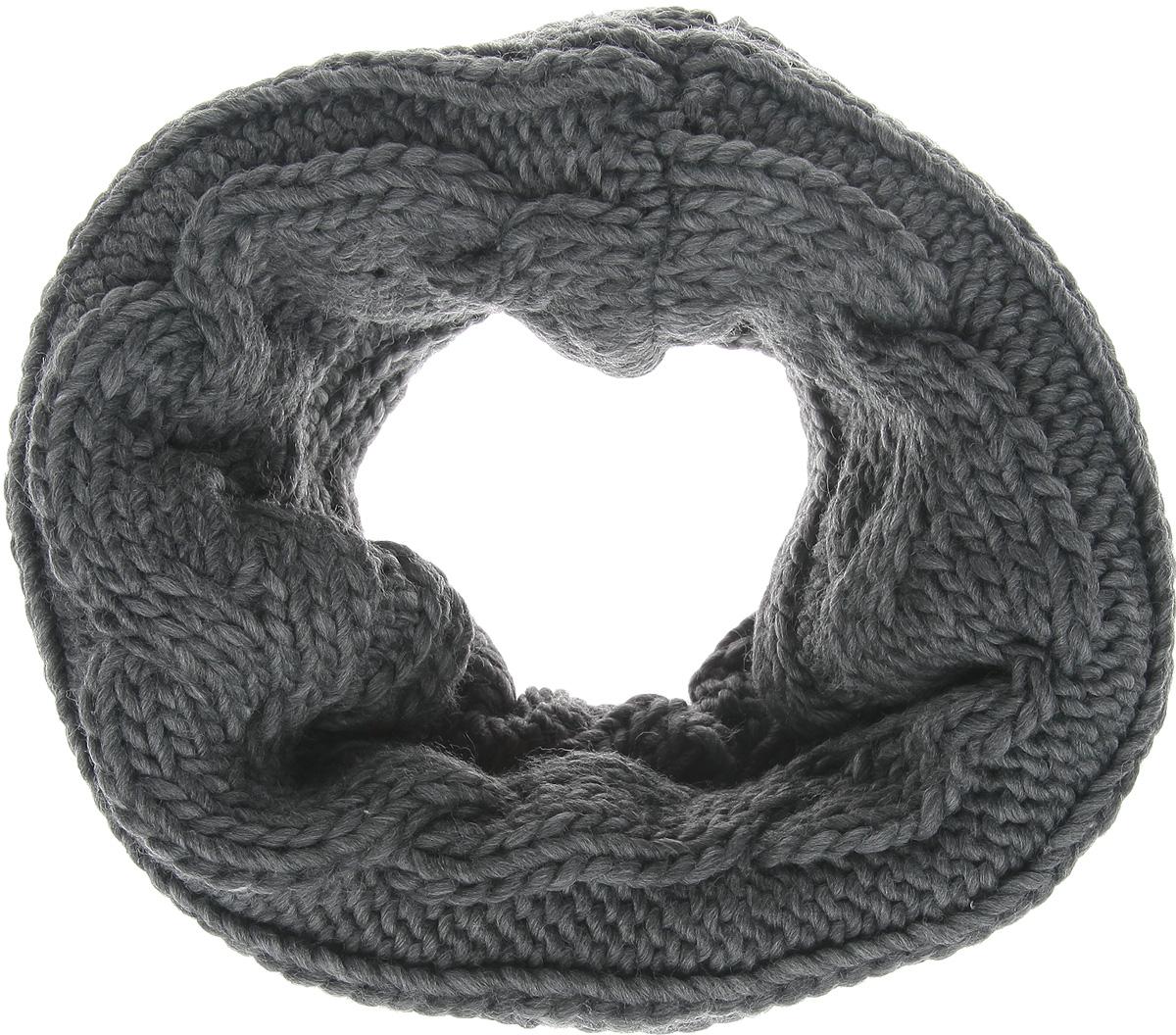 Снуд женский. 4010076940100769 807Уютный шарф-снуд Broadway - отличная модель для холодной погоды, он подчеркнет вашу оригинальность и неповторимый вкус. Он превосходно дополнит любой наряд и согреет вас в прохладное время года. Снуд выполнен из акриловой пряжи с добавлением шерсти. Внутренняя сторона снуда отделана невероятно мягким искусственным мехом. Снуд оформлен широкими вязаными косичками. Снуд - это объемный шарф, связанный по кругу. Этот модный аксессуар гармонично дополнит образ современной женщины, следящей за своим имиджем и стремящейся всегда оставаться стильной и элегантной.