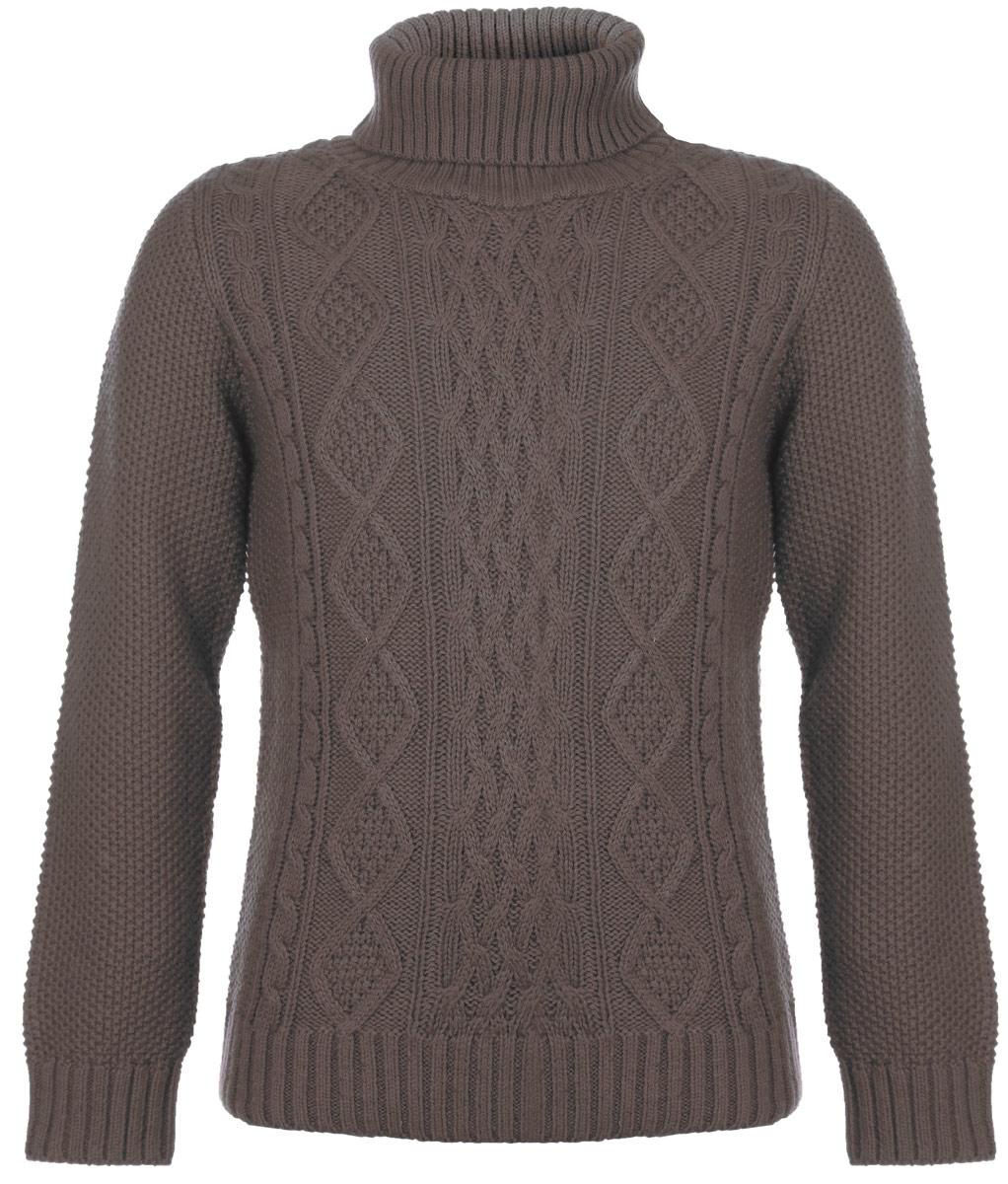 Свитер для мальчика. SW-714/030-5424SW-714/030-5424Теплый вязаный свитер для мальчика Sela идеально подойдет вашему ребенку в прохладные дни. Изготовленный из высококачественной пряжи, он необычайно мягкий и приятный на ощупь, не сковывает движения ребенка и хорошо сохраняет тепло, обеспечивая наибольший комфорт. Свитер с длинными рукавами и воротником-гольф оформлен фактурной вязкой. Рукава, воротник и низ изделия связаны крупной резинкой. Современный дизайн и расцветка делают этот свитер незаменимым предметом детского гардероба. В нем вашему маленькому мужчине будет уютно и тепло, и он всегда будет в центре внимания!
