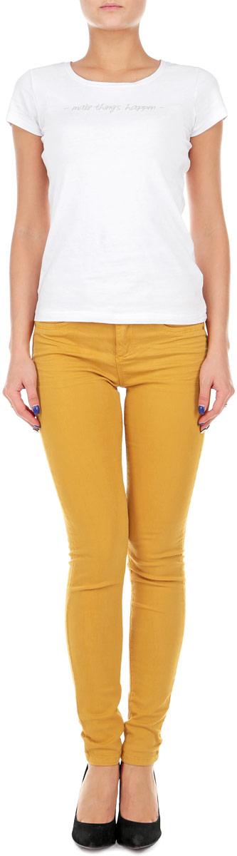 БрюкиSPACOGAGAMR2 9Z/GRN122Стильные женские брюки Tally Weijl созданы специально для того, чтобы подчеркивать достоинства вашей фигуры. Модель зауженного кроя и средней посадки станет отличным дополнением к вашему современному образу. Застегиваются брюки на пуговицу в поясе и ширинку на застежке-молнии, имеются шлевки для ремня. Спереди модель оформлена двумя втачными карманами и одним небольшим секретным кармашком, а сзади - двумя накладными карманами. Эти модные и в тоже время комфортные брюки послужат отличным дополнением к вашему гардеробу. В них вы всегда будете чувствовать себя уютно и комфортно.