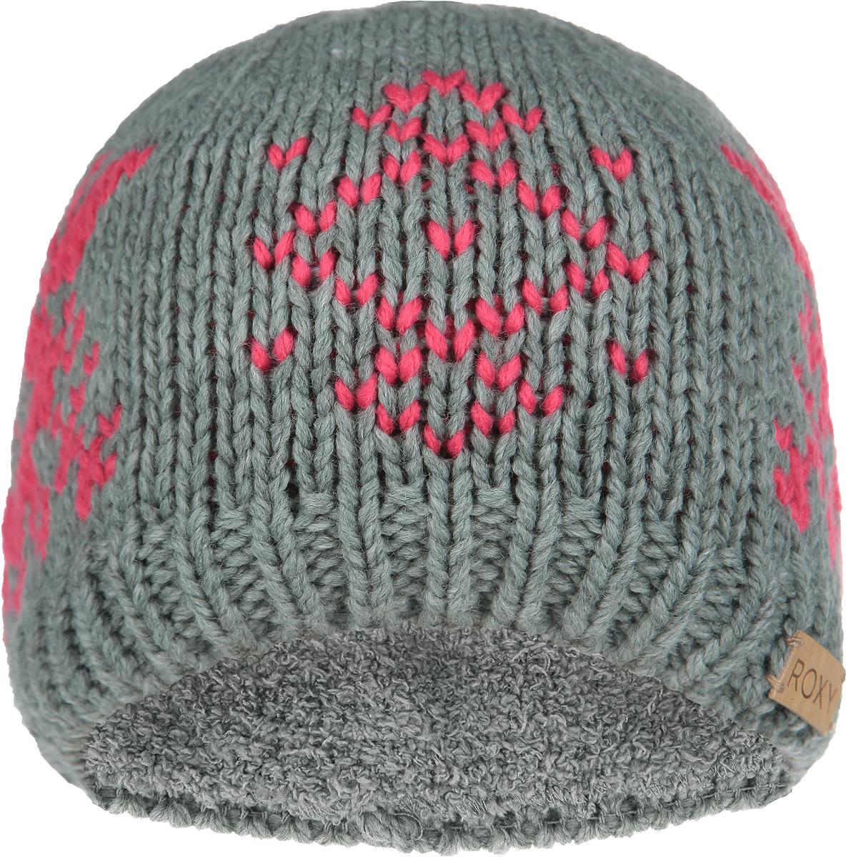 Шапка женская Wisp Beanie. ERJHA030ERJHA03018-BRD0Стильная женская шапка Roxy Wisp Beanie отлично дополнит ваш образ в холодную погоду. Эта стильная и износостойкая акриловая шапка невероятно легкая и мягкая, с внутренней подкладкой-полоской с ворсом для дополнительного утепления наиболее чувствительных участков. Модель оформлена орнаментом и нашивной кожаной полоской с логотипом бренда. Понизу шапка связана резинкой. Привлекательная стильная шапка Roxy Wisp Beanie подчеркнет ваш неповторимый стиль и индивидуальность.