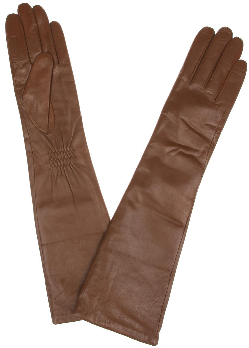 Перчатки женские. LB-2004LB-2004Элегантные удлиненные женские перчатки Labbra станут великолепным дополнением вашего образа и защитят ваши руки от холода и ветра во время прогулок. Перчатки выполнены из натуральной кожи ягненка и имеют подкладку из шерсти с добавлением акрила, что позволяет им надежно сохранять тепло и обеспечивает высокую гигроскопичность. Перчатки дополнены сборками на запястьях. Удлиненные манжеты подчеркнут изящество ваших рук. Такие перчатки будут оригинальным завершающим штрихом в создании современного модного образа, они подчеркнут ваш изысканный вкус и станут незаменимым и практичным аксессуаром.