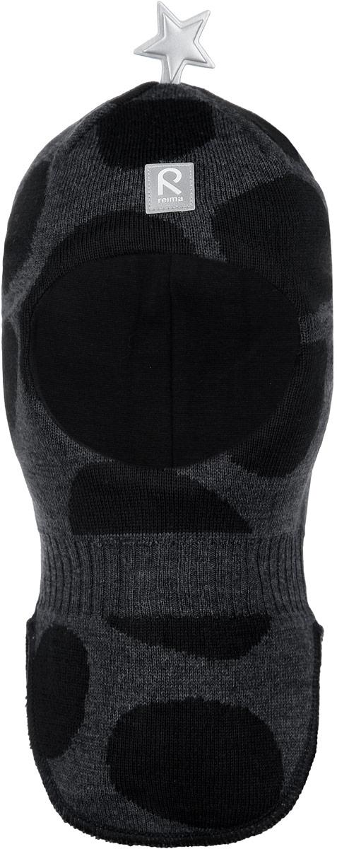 Шапка-шлем детская Shelter. 518318518318_4830Детская шапка-шлем Reima Shelter идеально подойдет для прогулок в холодное время года. Выполненная из шерсти и акрила на мягкой подкладке из эластичного хлопка, она прекрасно сохраняет тепло и обладает отличной гигроскопичностью (не впитывает влагу, но проводит ее). Вязаная шапочка-шлем по своей конструкции облегает голову ребенка, надежно защищая ушки, лоб и щечки от продуваний. По бокам модели предусмотрены ветронепроницаемые вставки, которые защищают маленькие ушки от холодного ветра. На макушке изделие дополнено светоотражающим значком в виде звезды и спереди - небольшой светоотражающей нашивкой с логотипом бренда, которые не оставят вашего ребенка незамеченным в темное время суток. Современный и яркий дизайн, высокое качество делают эту шапку модным и стильным предметом детского гардероба. В ней ваш ребенок будет чувствовать себя уютно и комфортно и всегда будет в центре внимания! Уважаемые клиенты! Размер, доступный...