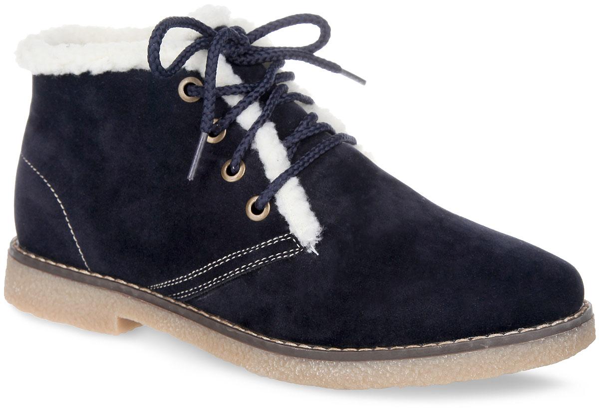 Ботинки женские. 858171/03-07F858171/03-07FМодные женские ботинки Keddo займут достойное место в вашем гардеробе. Модель выполнена из искусственной замши и дополнена по верху светлой прострочкой. Верх изделия оформлен шнуровкой, которая надежно фиксирует модель на ноге и регулирует объем. Подкладка и стелька из искусственной шерсти (натуральная шерсть - 30%, полиэстер - 70%) защитят ноги от холода и обеспечат комфорт. По канту и на берцах обувь украшена искусственным мехом контрастного цвета. Подошва с рельефным протектором обеспечивает отличное сцепление с любой поверхностью. Стильные ботинки отлично подойдут как для простой прогулки, так и для дальней поездки.