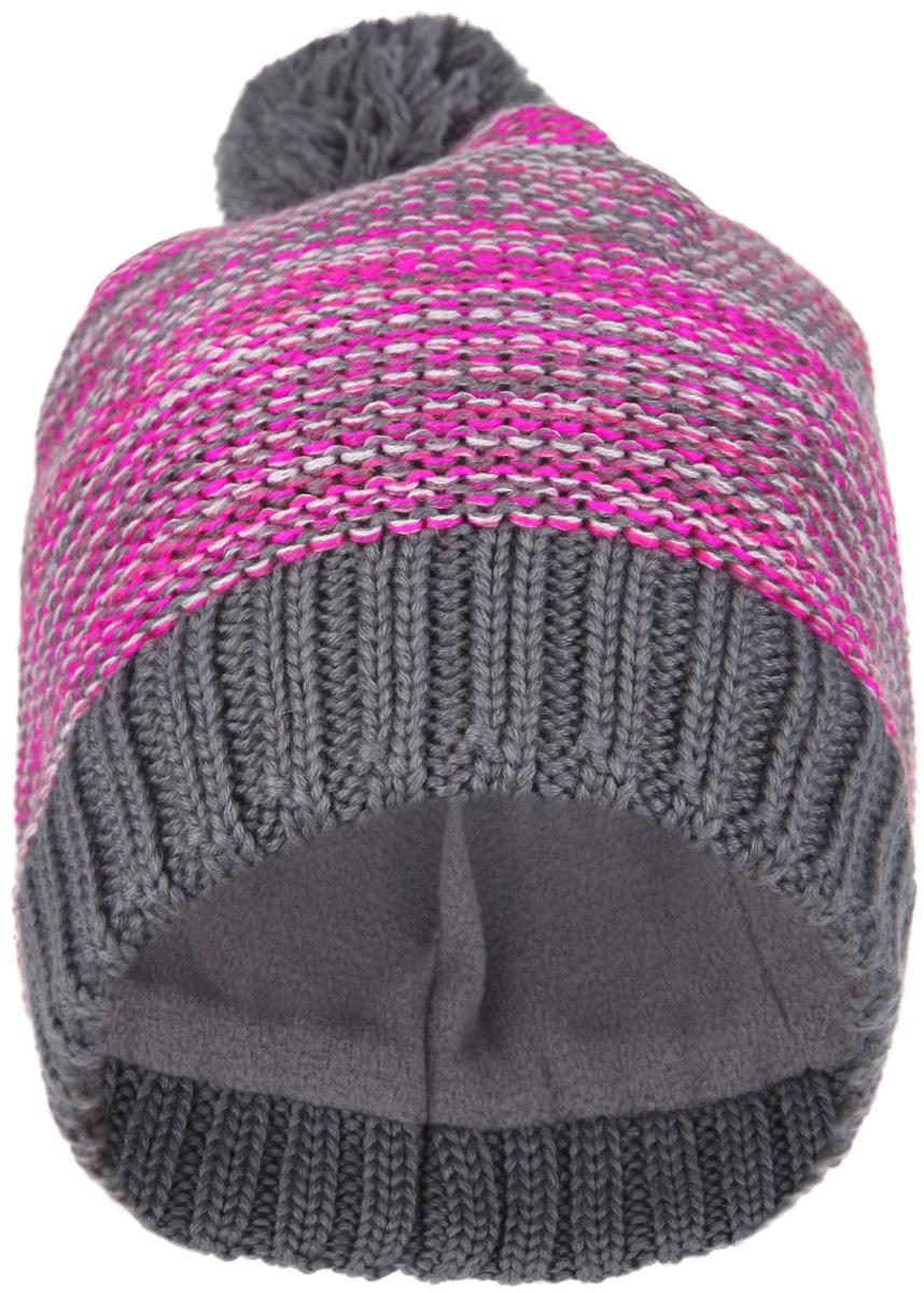 728678_4450Детская шапка-бини Reima Lassie отлично подойдет для прогулок в холодное время года. Изделие, изготовленное из шерсти и акрила на мягкой флисовой подкладке, максимально сохраняет тепло. Благодаря эластичной вязке, шапка плотно прилегает к голове ребенка. Шапочка дополнена на макушке пушистым помпоном. По бокам модели предусмотрены ветронепроницаемые вставки, которые защищают маленькие ушки от холодного ветра. Край изделия оформлен крупной вязкой. По заднему шву шапка дополнена светоотражающей вставкой. Современный дизайн и яркая расцветка делают эту шапку модным и стильным предметом детского гардероба. В ней ребенку будет тепло, уютно и комфортно. Уважаемые клиенты! Размер, доступный для заказа, является обхватом головы.