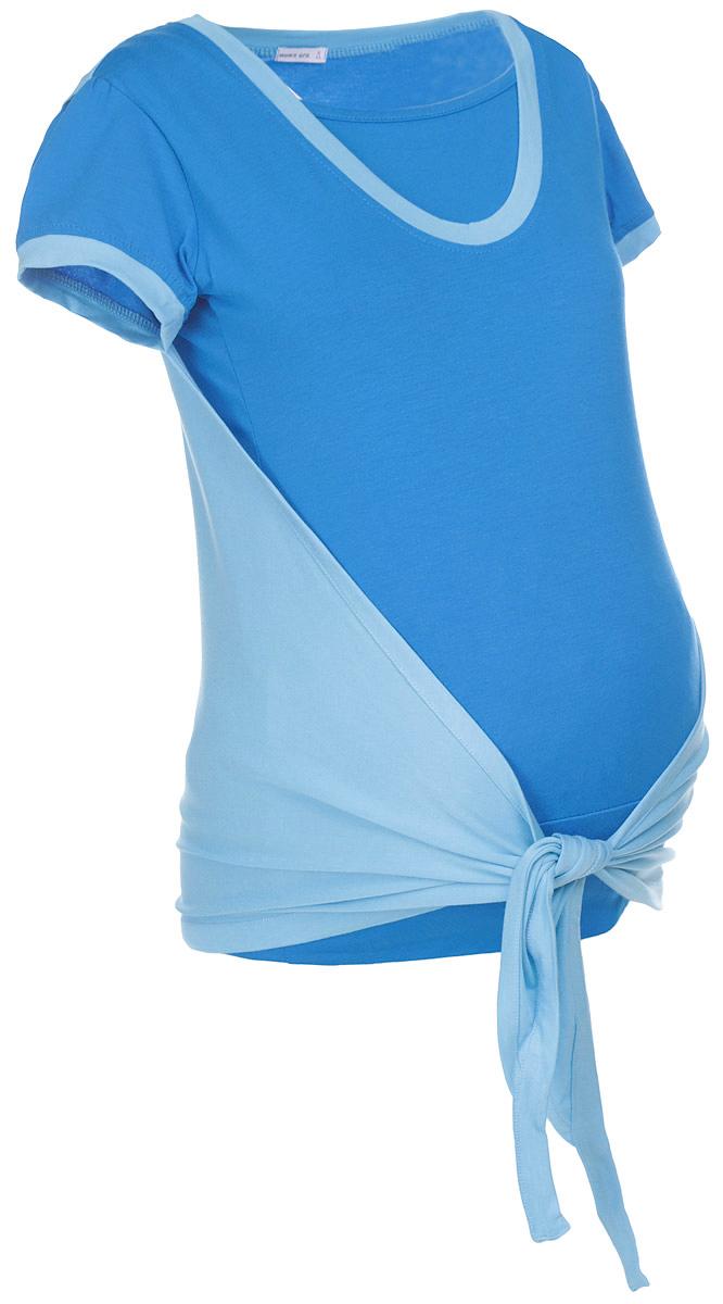 Футболка10102Удобная женская футболка Mums Era Evolution, изготовленная из вискозы с добавлением лайкры, идеально подойдет как для беременных, так и для кормящих мам. Футболка с короткими рукавами-фонариками и круглым вырезом горловины понизу дополнена спереди специальной вставкой-топом, а также функциональную вшитую накидку, которые помогут незаметно покормить малыша в общественном месте, при этом от окружающих процесс кормления будет скрыт. Понизу проходит широкая эластичная резинка. Вырез горловины и низ рукавов дополнены трикотажной резинкой контрастного цвета.