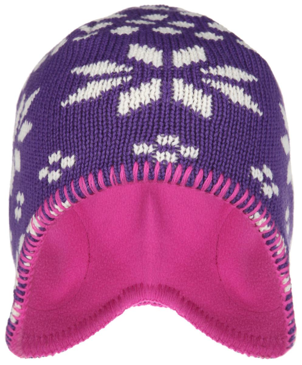 528434_5910Детская шапка-бини Reima Igloo идеально подойдет для прогулок в холодное время года. Изделие, выполненное из натуральной шерсти на мягкой флисовой подкладке, максимально сохраняет тепло. Благодаря эластичной вязке, шапка плотно прилегает к голове ребенка. По бокам шапки предусмотрены ветронепроницаемые вставки, которые защищают маленькие ушки от холодного ветра. Модель оформлена вязаным узором на норвежский мотив, а по краям дополнена контрастной строчкой. Модный дизайн, расцветка и отличное качество делают эту шапку незаменимым предметом детского гардероба. В ней ребенку будет тепло, уютно и комфортно. Уважаемые клиенты! Размер, доступный для заказа, является обхватом головы.
